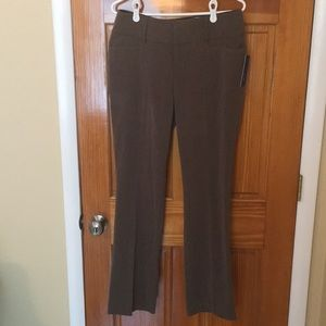 Apt. 9 Size 6 Dress Pants in Heather Brown